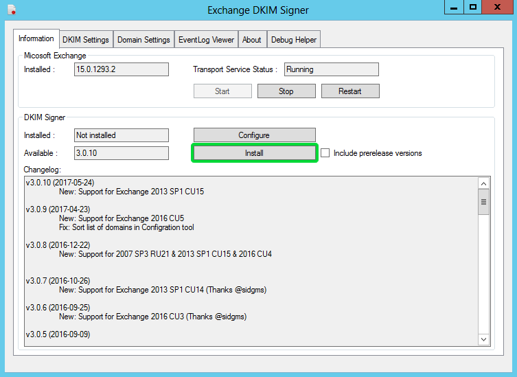 Setting up DKIM for Exchange Server